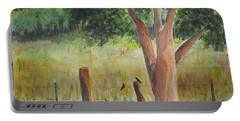 Portable Battery Charger featuring the painting Afternoon Chat by Vicki  Housel