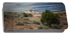 Afternoon Clouds Over White Pocket Portable Battery Charger by Anne Rodkin