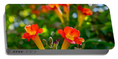 Afternoon Flowers Portable Battery Charger by Derek Dean