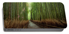Portable Battery Charger featuring the photograph Afternoon In The Bamboo by Rikk Flohr