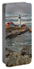 Afternoon Light At Cape Neddick Portable Battery Charger