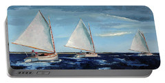 Afternoon Sailers Portable Battery Charger by Trina Teele