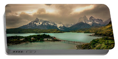 Afternoon Storm Portable Battery Charger by Andrew Matwijec