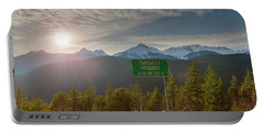 Afternoon Sun Over Tantalus Range From Lookout Portable Battery Charger