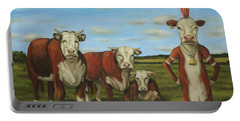 Against The Herd Portable Battery Charger by Leah Saulnier The Painting Maniac