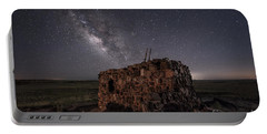 Portable Battery Charger featuring the photograph Agate House At Night by Melany Sarafis