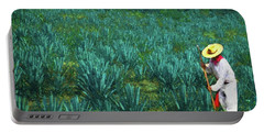 Portable Battery Charger featuring the photograph Agave Worker by John Kolenberg