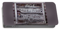 Portable Battery Charger featuring the photograph Age Deepens Character Sign by Betty Denise