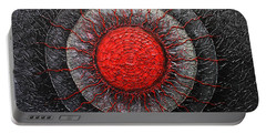 Red And Black Abstract Portable Battery Charger