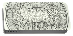 Agnus Dei Behold The Lamb Of God That Taketh Away The Sin Of The World Portable Battery Charger