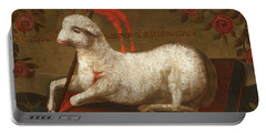 Agnus Dei With Banner Of The Order Of St John  Portable Battery Charger