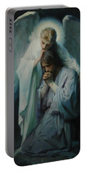 Portable Battery Charger featuring the painting Agony In The Garden By Frans Schwartz, 1898 3 by Frans Schwartz