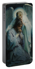 Agony In The Garden  Portable Battery Charger by Frans Schwartz