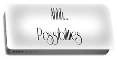Possibility Quotes Art Prints, Inspirational Infinity Quotes Posters Portable Battery Charger