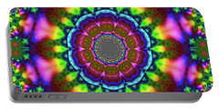 Portable Battery Charger featuring the digital art Ain Bow 10 by Robert Thalmeier