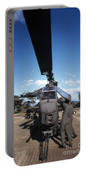 Air Crewmen Secure An Ah-1 Cobra Attack Portable Battery Charger by Michael Wood