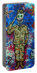 Air Force Day Of The Dead Portable Battery Charger