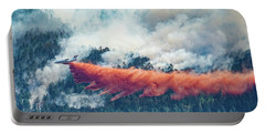 Air Tanker On Crow Peak Fire Portable Battery Charger