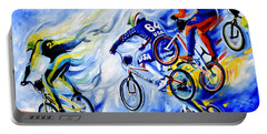 Portable Battery Charger featuring the painting Airborne by Hanne Lore Koehler