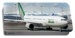 Airbus A330 Alitalia With New Livery  Portable Battery Charger