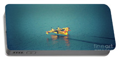 Aircraft Firefighter Take Water In The Sea Portable Battery Charger
