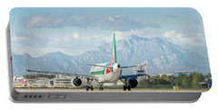 Airplane And Mountains Portable Battery Charger
