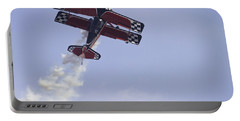 Airplane Performing Stunts At Airshow Photo Poster Print Portable Battery Charger by Keith Webber Jr