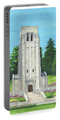 Portable Battery Charger featuring the painting Aisne-marne American Cemetery by Betsy Hackett