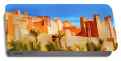 Ait Benhaddou Morocco Portable Battery Charger by Wally Hampton