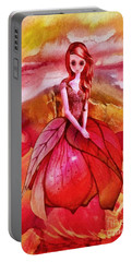 Portable Battery Charger featuring the painting Aithne by Mo T