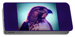 Ak-chin Red-tailed Hawk Portrait Portable Battery Charger