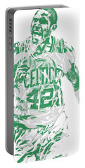 Al Horford Boston Celtics Pixel Art 7 Portable Battery Charger