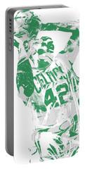 Al Horford Boston Celtics Pixel Art 8 Portable Battery Charger