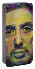 Portable Battery Charger featuring the painting Al Pacino by Robert Phelps