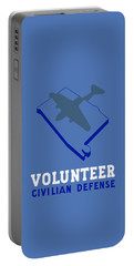 Portable Battery Charger featuring the painting Alabama Civilian Defense - Wpa by War Is Hell Store