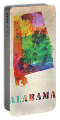 Alabama Watercolor Colorful Map Portable Battery Charger