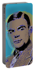 Portable Battery Charger featuring the digital art Alan Turing by Jean luc Comperat