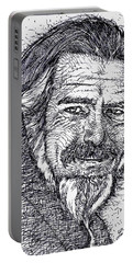 Alan Watts - Ink Portrait Portable Battery Charger