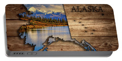 Alaska Map Collage Portable Battery Charger