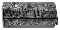 Portable Battery Charger featuring the photograph Alaska Mountains by Zawhaus Photography