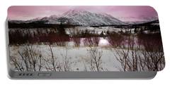 Alaska Range Pink Sky Portable Battery Charger