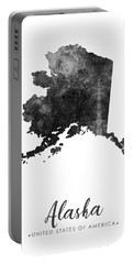 Alaska State Map Art - Grunge Silhouette Portable Battery Charger
