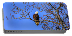 Alaskan Bald Eagle In Tree At Sunset Portable Battery Charger