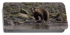 Alaskan Brown Bear Dining On Mollusks Portable Battery Charger