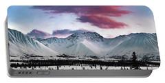 Alaskan Range At Sunset Portable Battery Charger