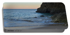 Albandeira Beach Welcoming Twilight 2 Portable Battery Charger by Angelo DeVal