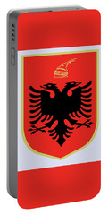 Portable Battery Charger featuring the drawing Albania Coat Of Arms by Movie Poster Prints