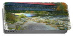 Albany Covered Bridge Nh. Portable Battery Charger