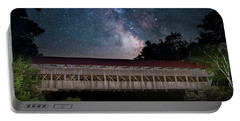 Albany Covered Bridge Under The Milky Way Portable Battery Charger