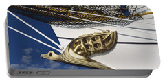 Portable Battery Charger featuring the photograph Albatross Figurehead by Heiko Koehrer-Wagner